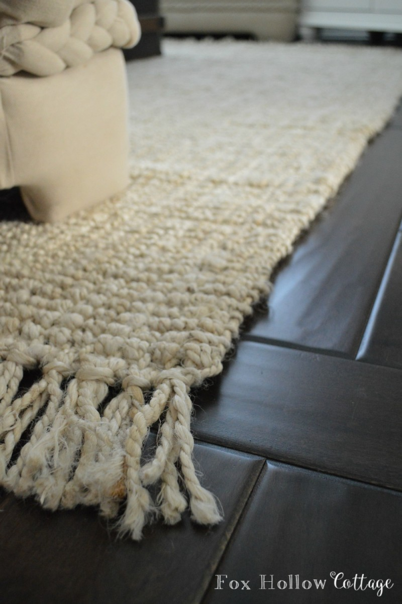 Hand Woven Jute With Wool Fringe Nt24 Rug