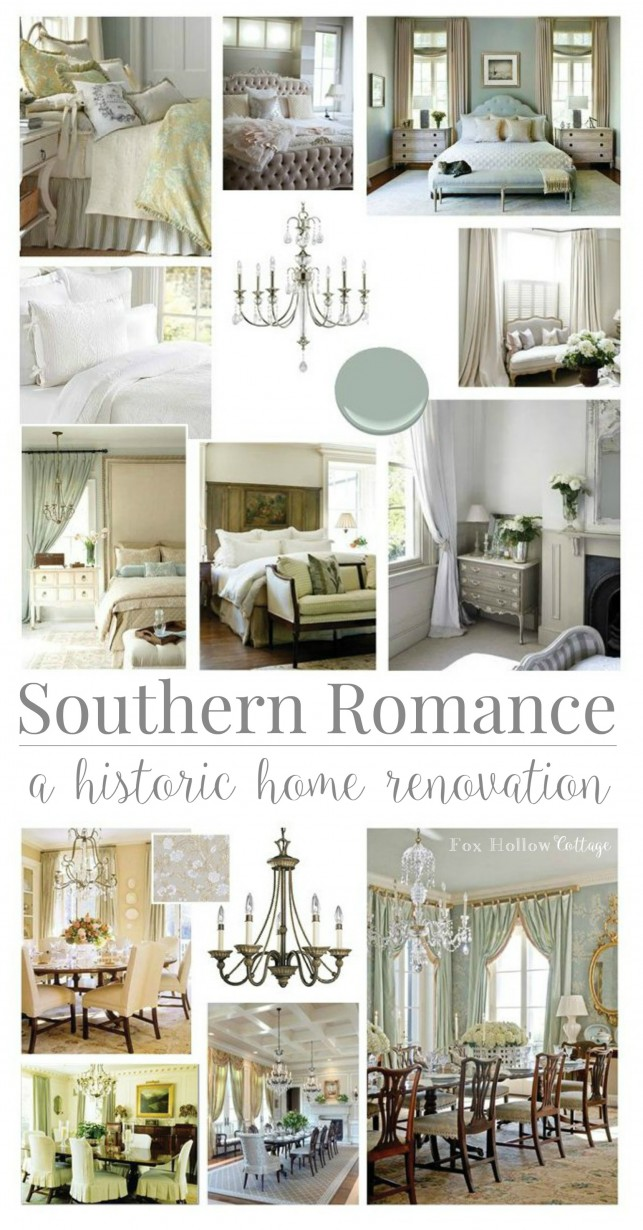 Southern Romance Historic Home Renovation Inspiration | See the before and after tour and at foxhollowcottage