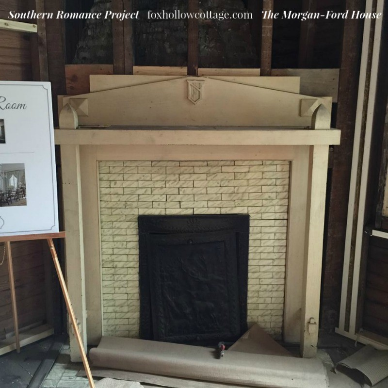 Southern Romance Project - The Morgan Ford House in Mobile Alabama - Vintage Arts and Crafts Fireplace Number 2 - foxhollowcotttage.com