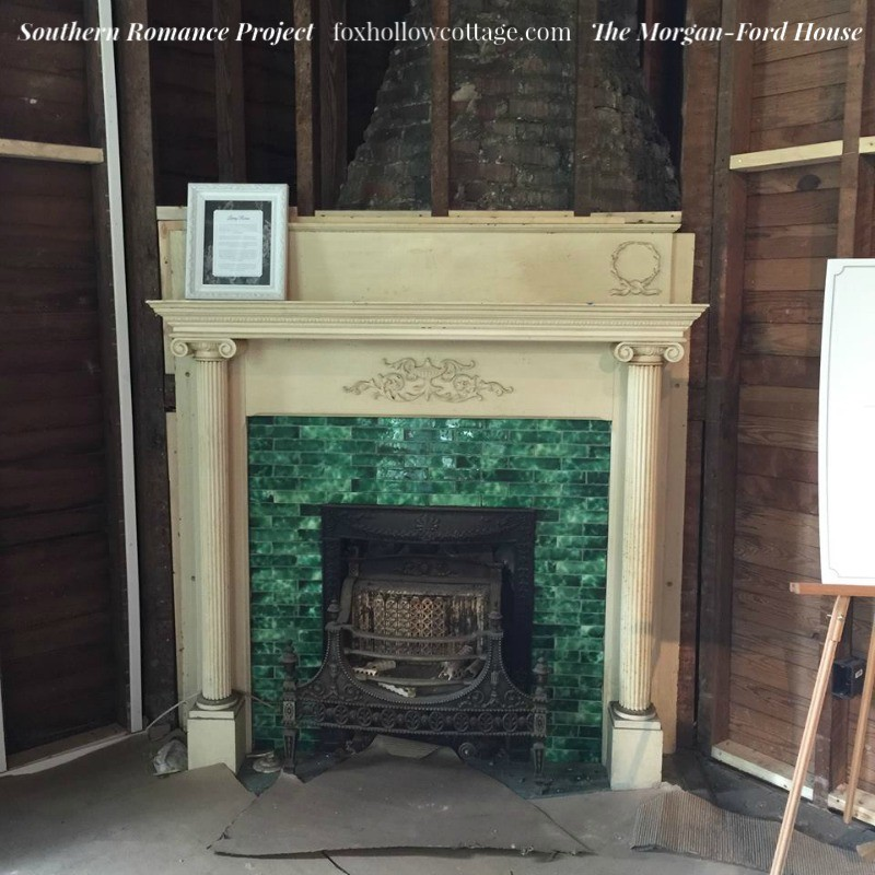 Southern Romance Project - The Morgan Ford House in Mobile Alabama - Vintage Arts and Crafts Fireplace - foxhollowcotttage.com