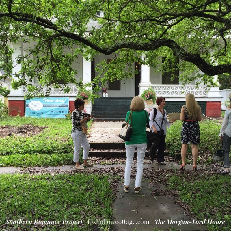 Southern Romance Project - The Morgan Ford House in Mobile Alabama - Vintage Arts and Crafts Home Restoration - foxhollowcotttage.com