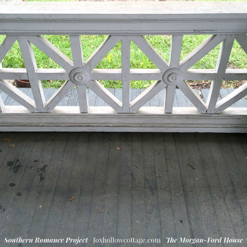 Southern Romance Project - The Morgan Ford House in Mobile Alabama - Vintage Arts and Crafts Proch Railing - foxhollowcotttage.com