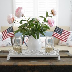 Coastal Cottage with a Patriotic Summer Twist