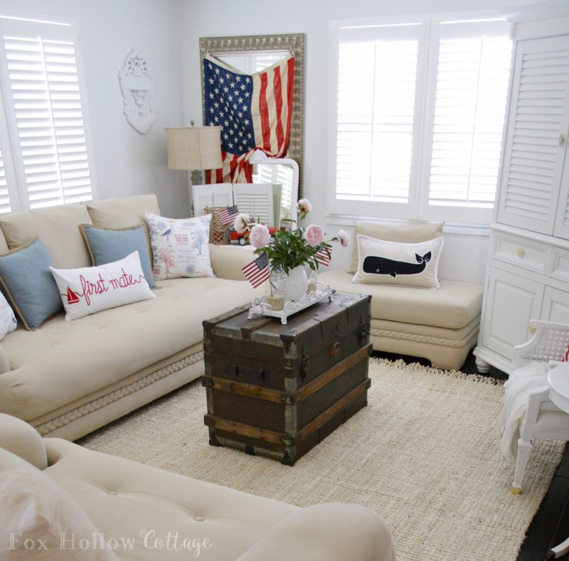 Summer coastal cottage home decorating foxhollowcottage