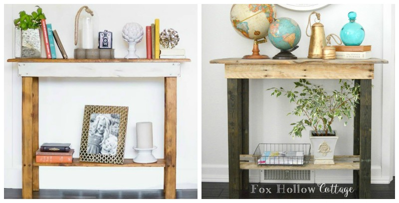 Thiers - Ours - diy reclaimed wood pallet table - foxhollowcottage.com