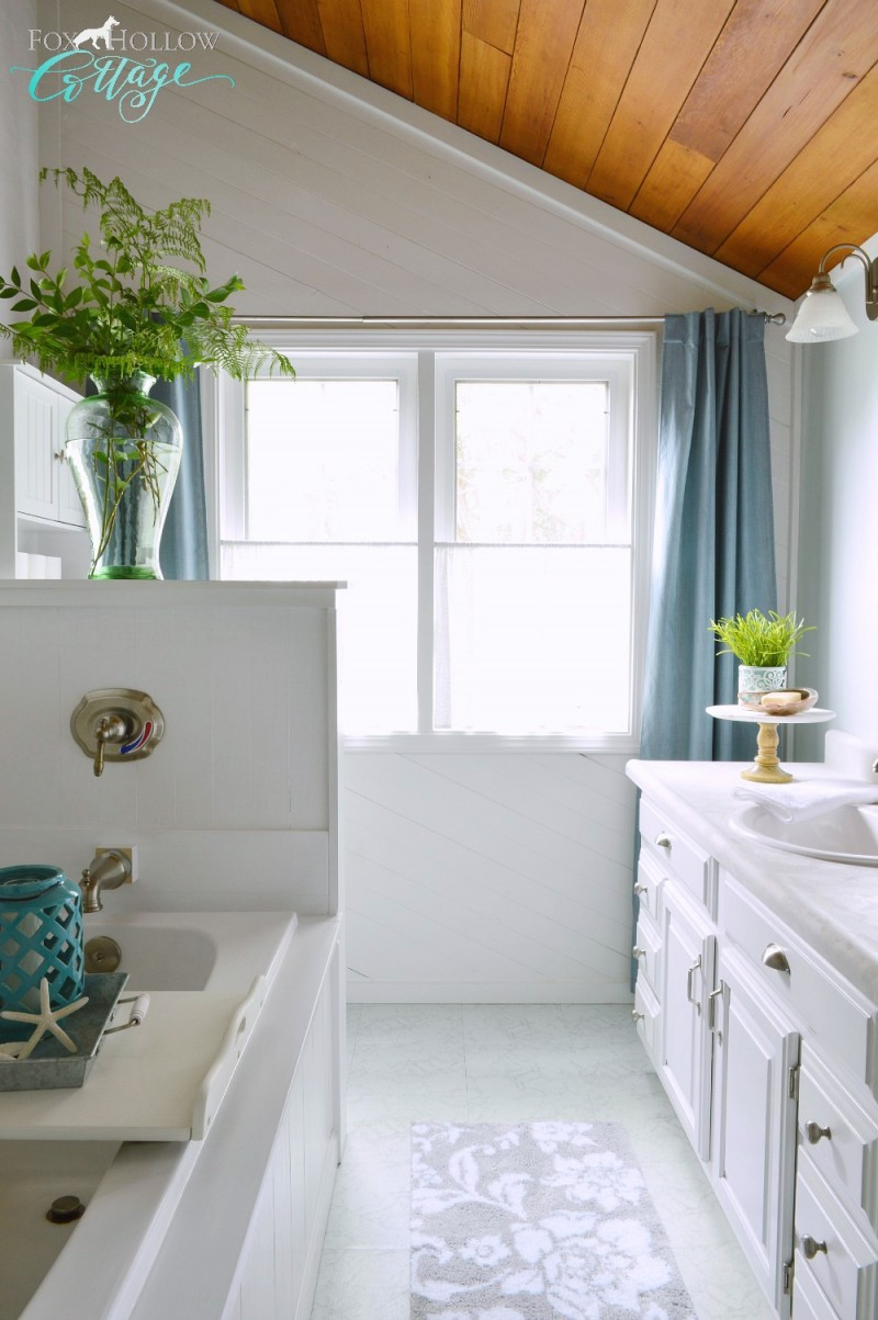 Coastal Cottage Budget Bathroom Makeover