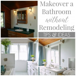 How To Makeover A Bathroom Without Remodeling