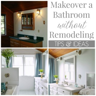 how to make over a bathroom without remodeling
