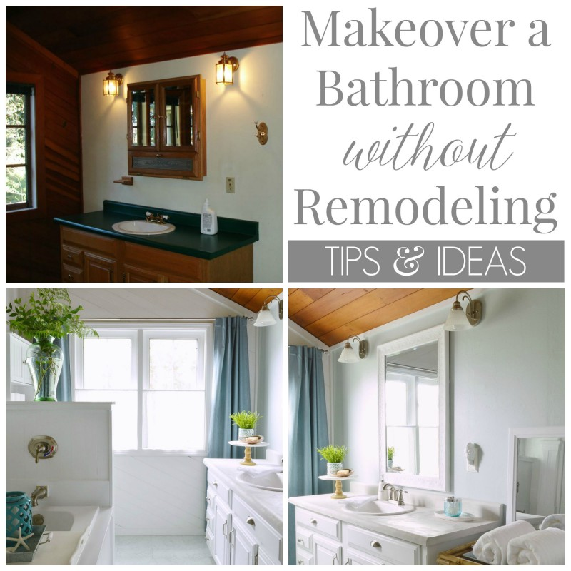 Coastal Cottage DIY - how to make over a bathroom without remodeling