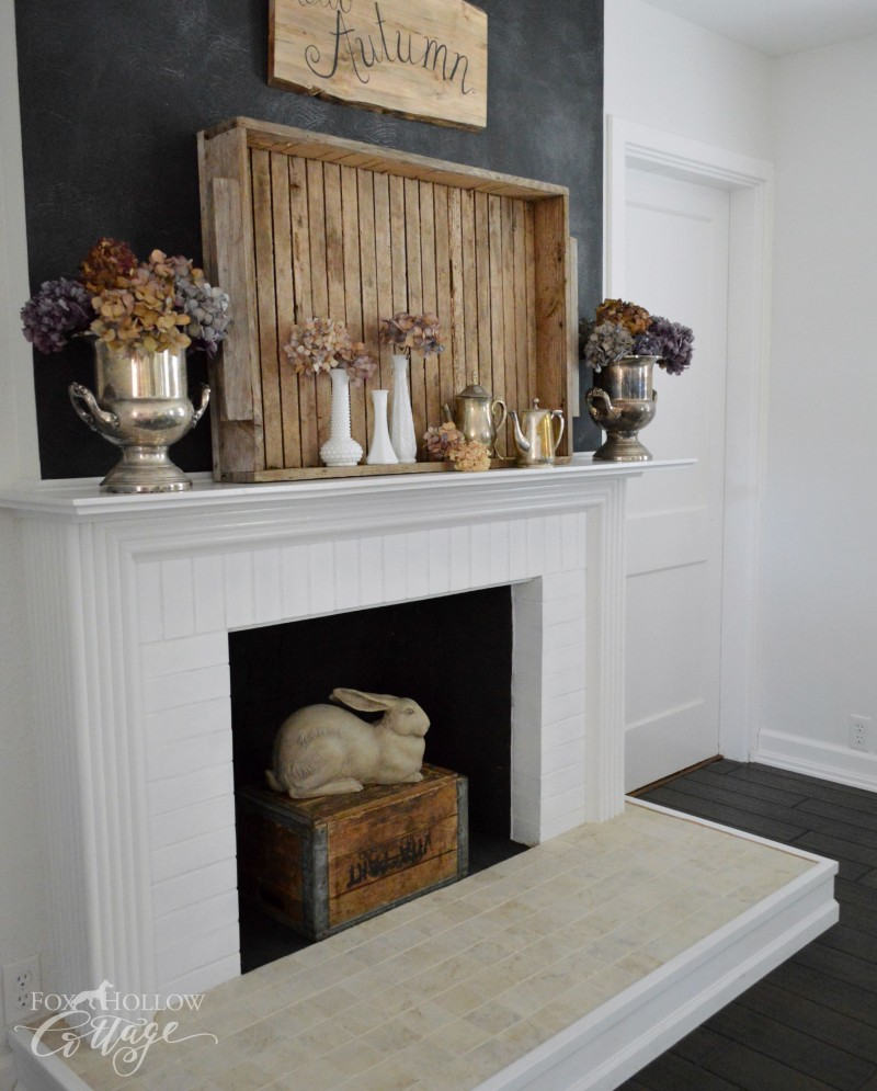 Early Fall Mantel foxhollowcottage