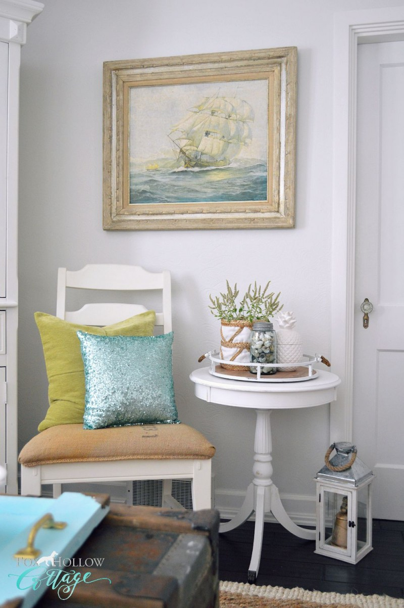 Simple Serving Tray - A Coastal Home Decor DIY - Fox Hollow Cottage