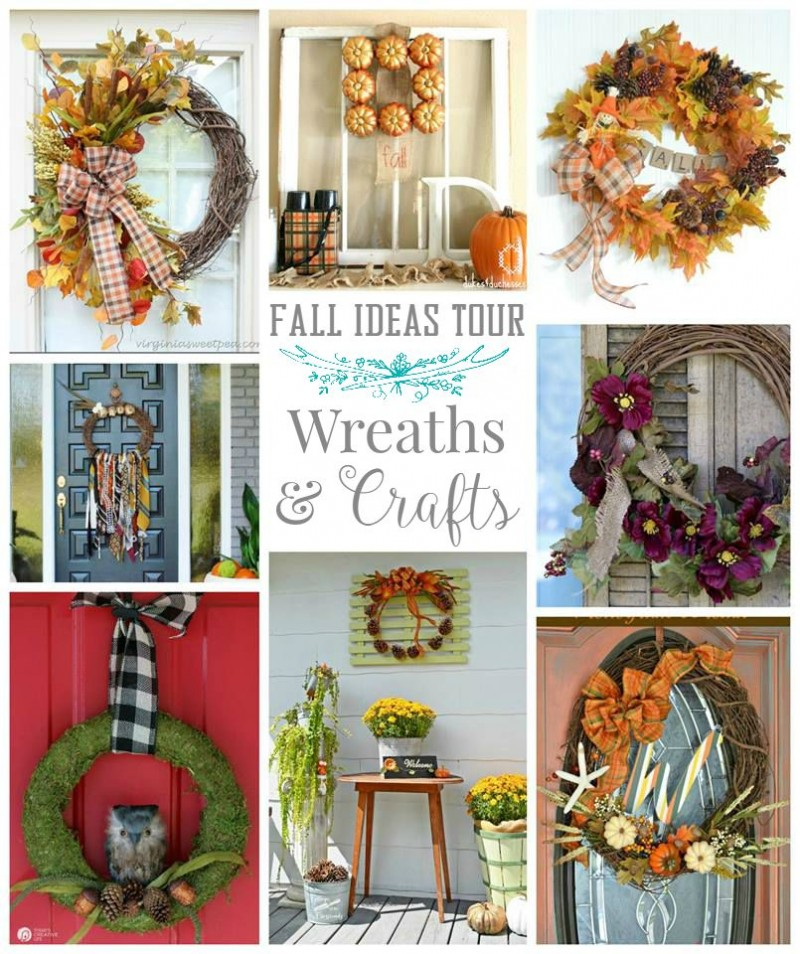 Autumn wreaths and craft - fall ideas diy home decorating tour