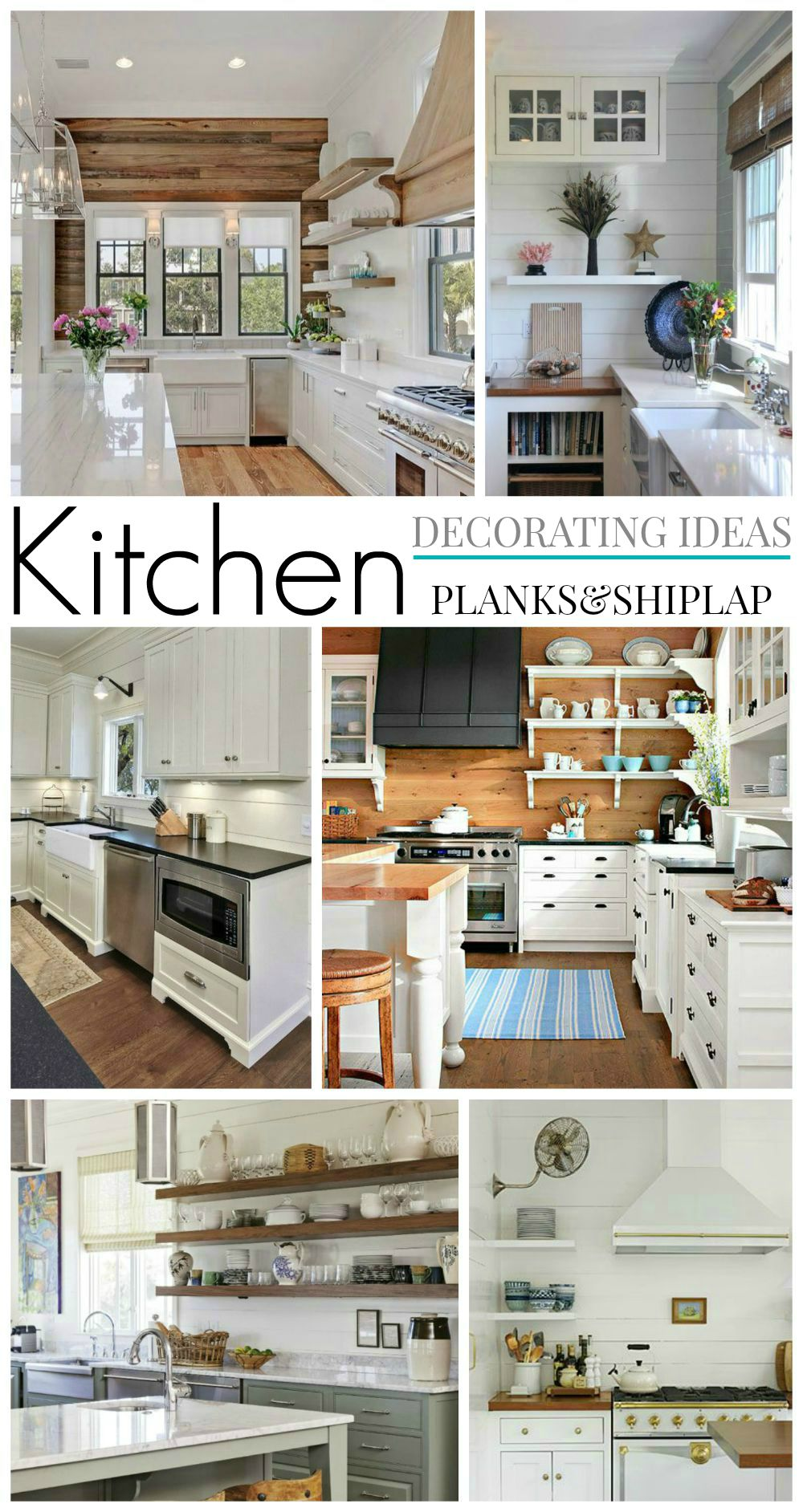 Decorating Ideas Wood Planks and Shiplap - Kitchen Plans - the little cottage foxhollowcottage.com   The Little Cottage October Update