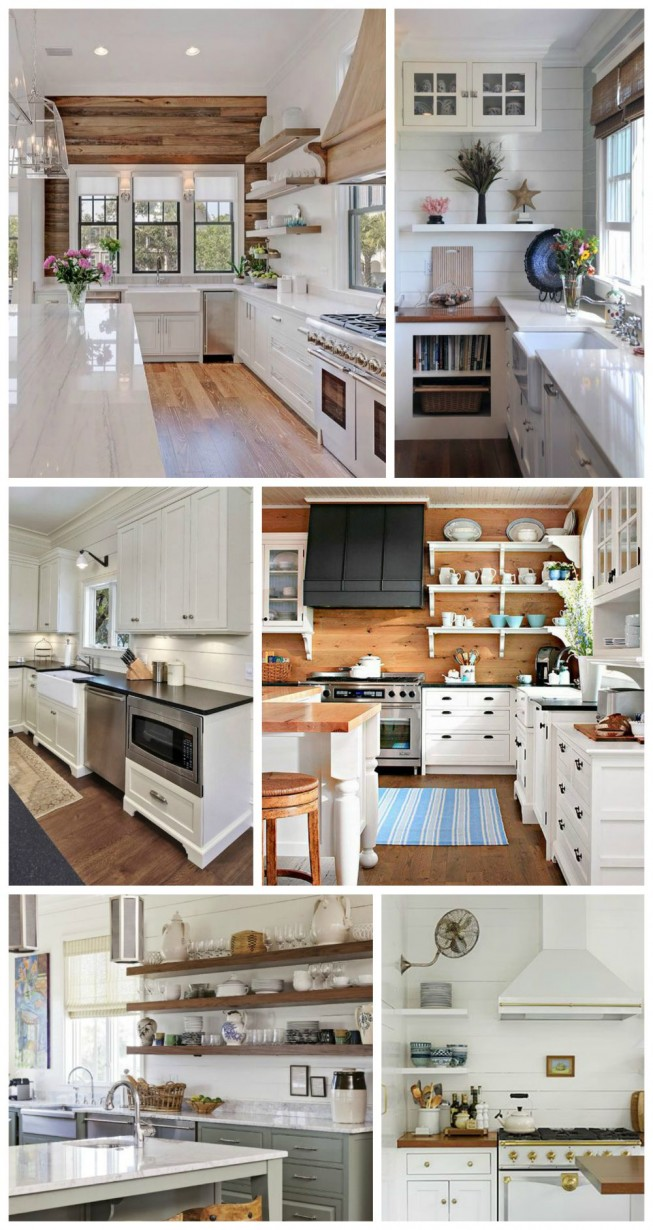 Little cottage kitchen dreams fox hollow cottage for Kitchen feature wall ideas