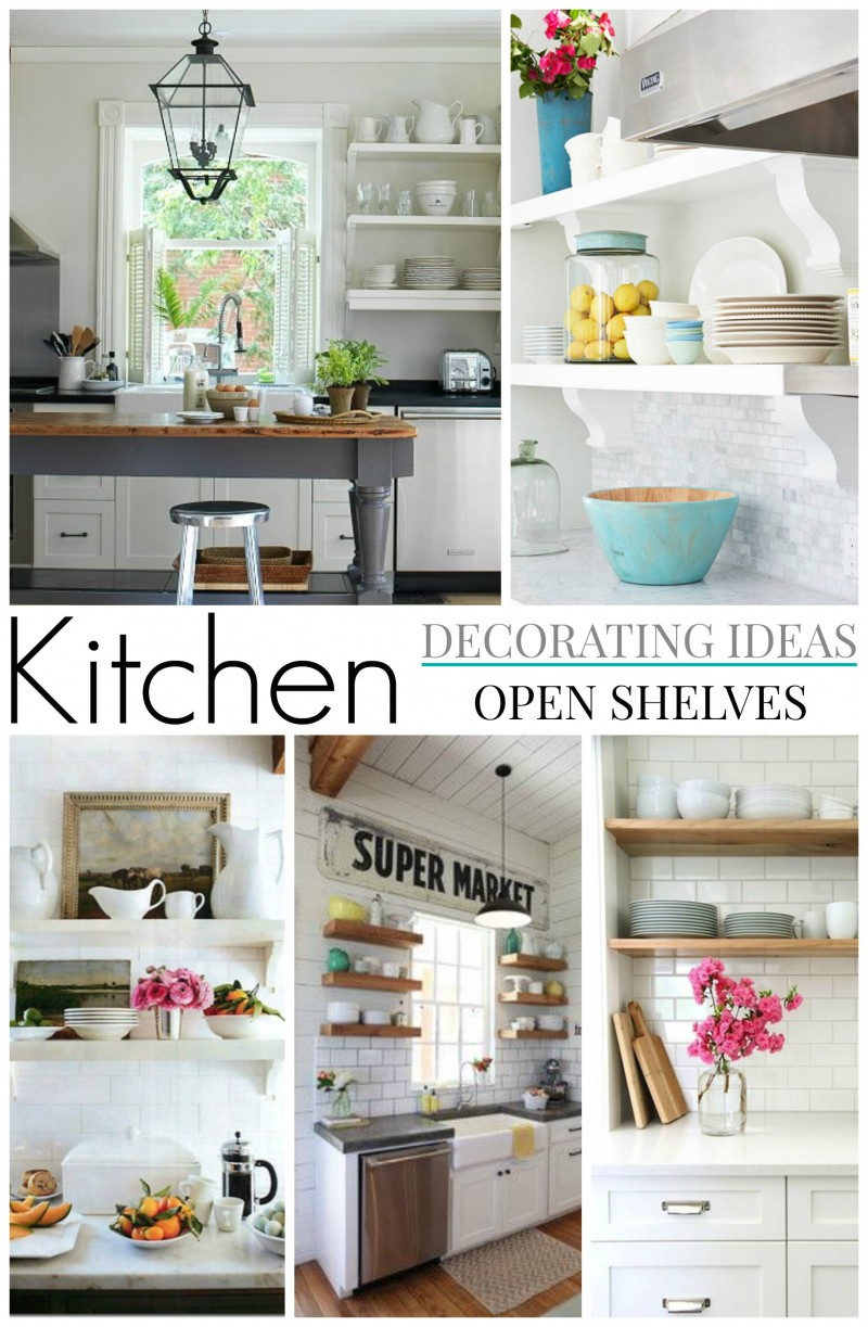 White Kitchen Decorating Ideas Photos Part - 33: Open Shelf Storage Kitchen Decorating Ideas