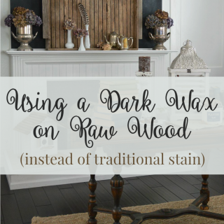 Using Wax Instead Of Stain To Finish Raw Virgin Wood