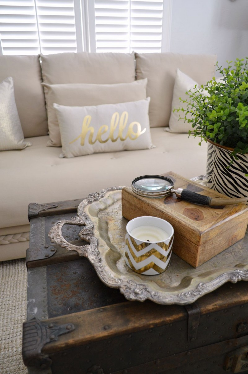 Silver Tray Coffee Table Decorating Ideas