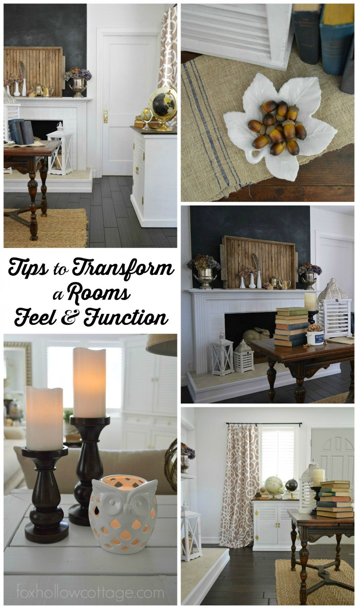 tips to transform a rooms feel and function - foxhollowcottage.com