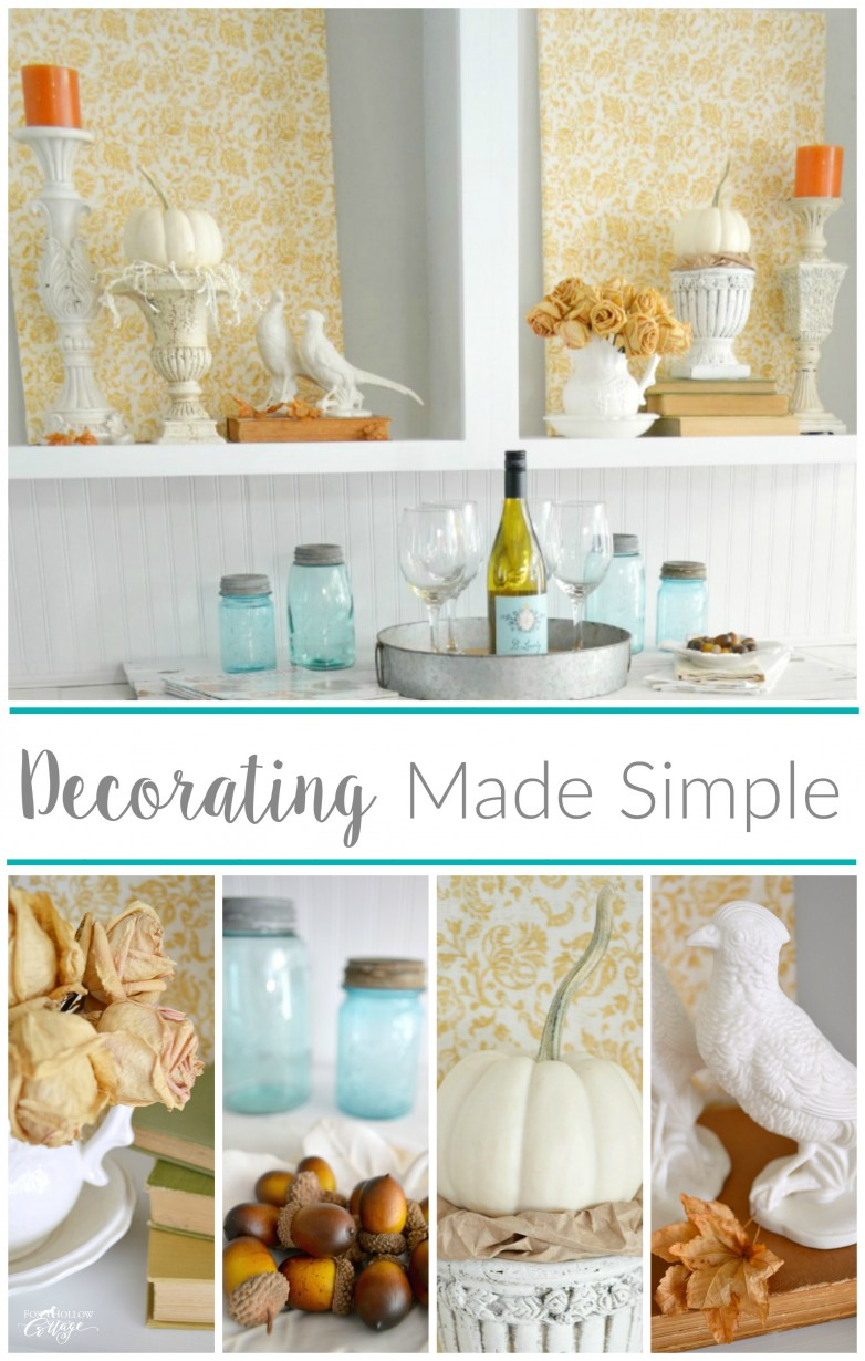 Cheap And Easy Empty Space Decorating Filler - Fox Hollow Cottage