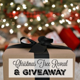 Christmas Tree Reveal and Balsam Hill giveaway Fox Hollow Cottage blog