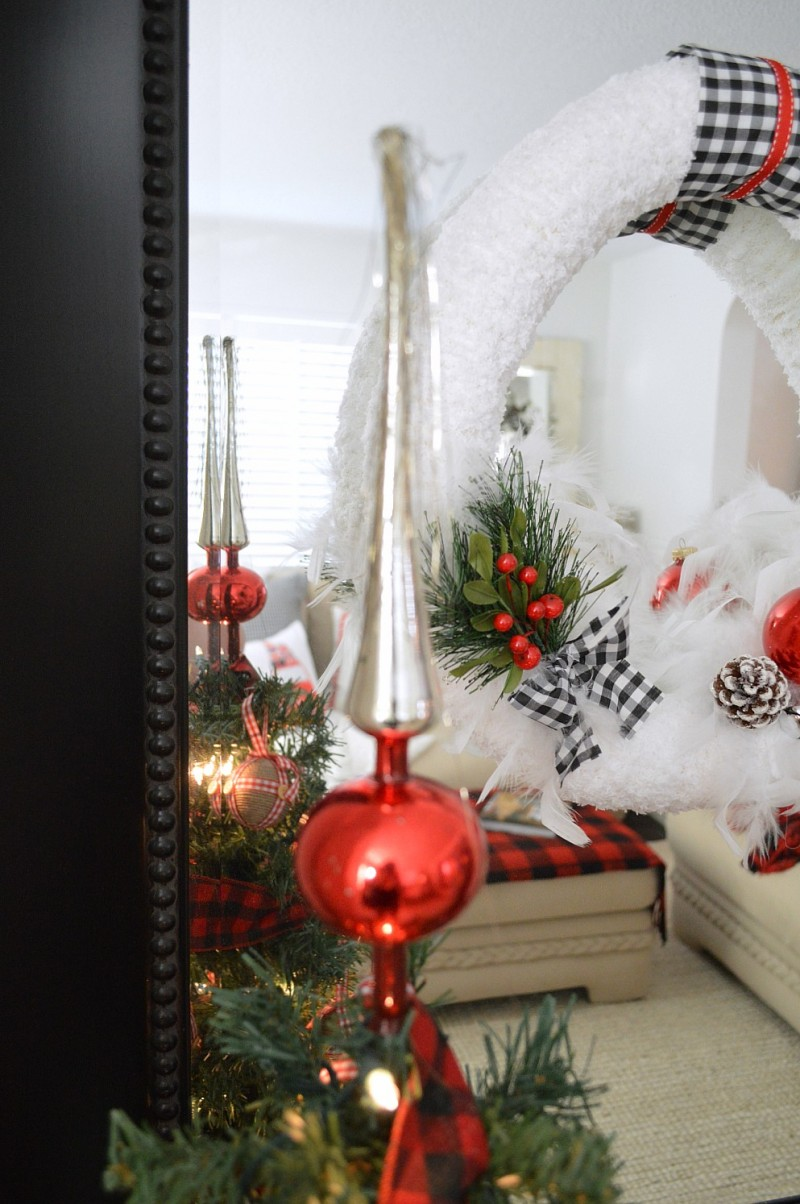 Cottage Christmas Home Tour with Country Living - Vintage Shiny Brite Tree Topper