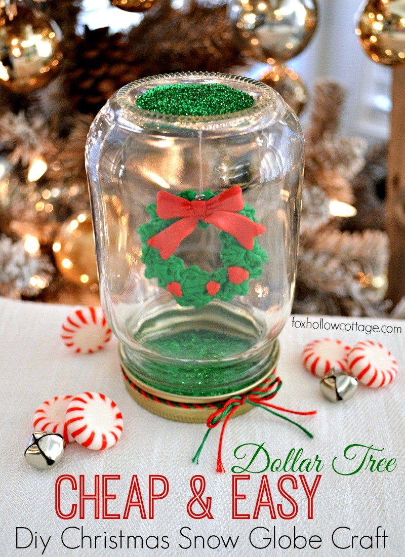 diy cheap and easy dollar tree christmas snow - Dollar Store Christmas Crafts