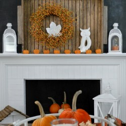 Fox Hollow Cottage Thanksgiving - Late Fall Autumn Mantel Decorating