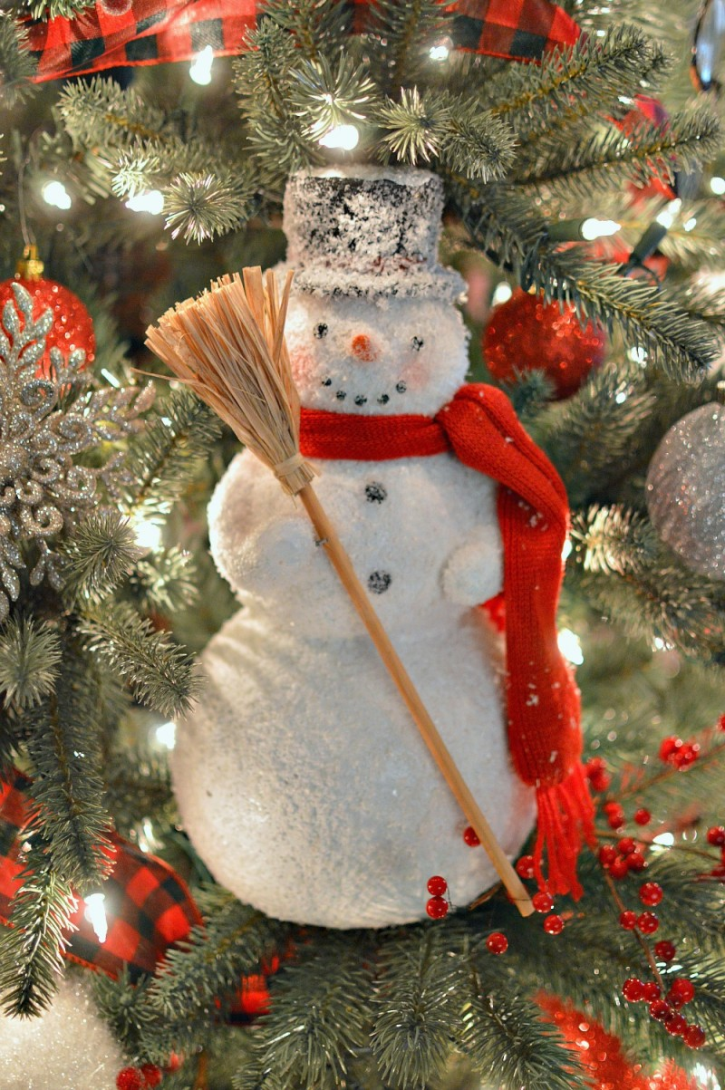 Frosty The Snowman Home Decor as Extra Large Christmas Tree Ornament