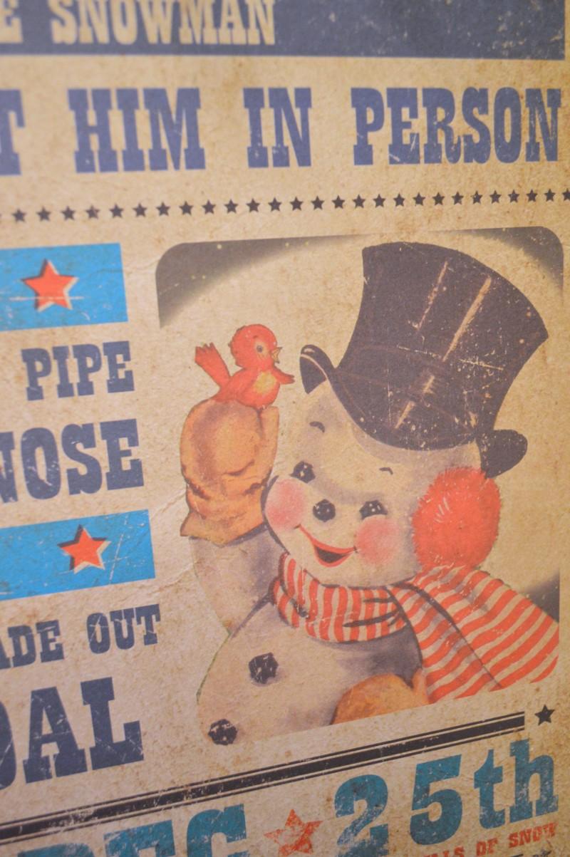 Frosty The Snowman Vintage Apperance Schedule Wall Art