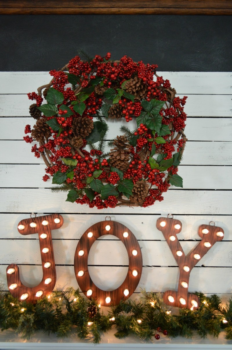JOY Christmas Marquee Letters