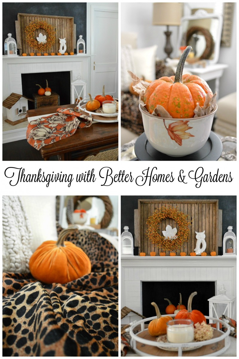 Thanksgiving with Better Homes and Gardens. Pretty and Affordable Home and Table Decor at Walmart foxhollowcottage.com