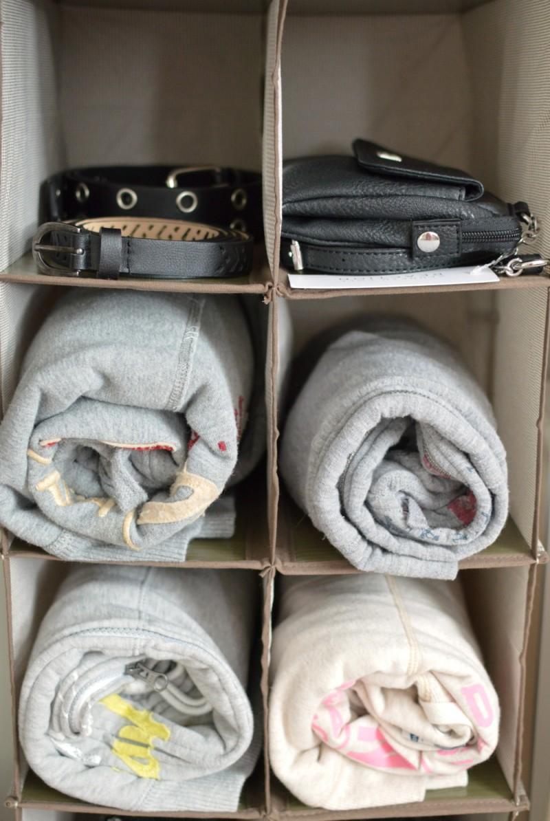 11 compartment hanging closet storage organizer