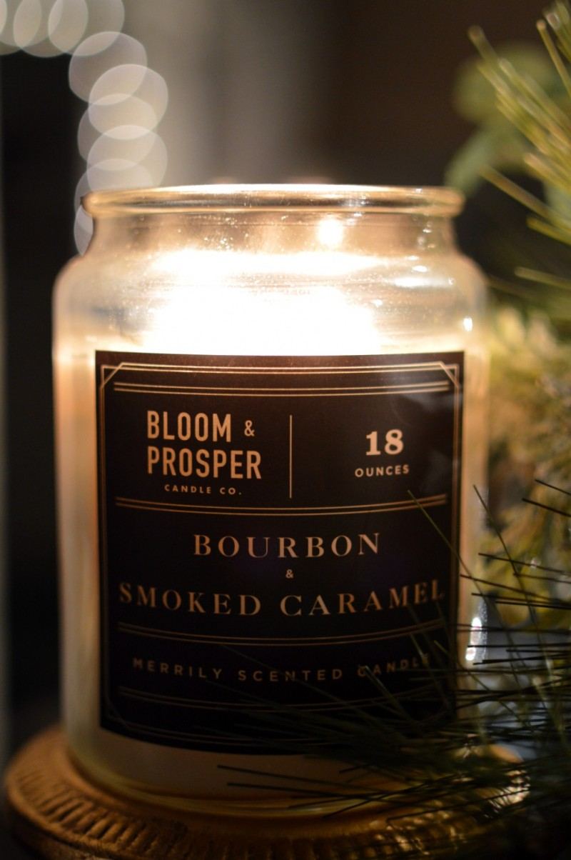 3 Cozy Cottage Nighttime Christmas Lights Tour - Bourbon and Salted Caramel Candle