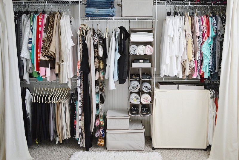 Affordable Organized Closet Makeover