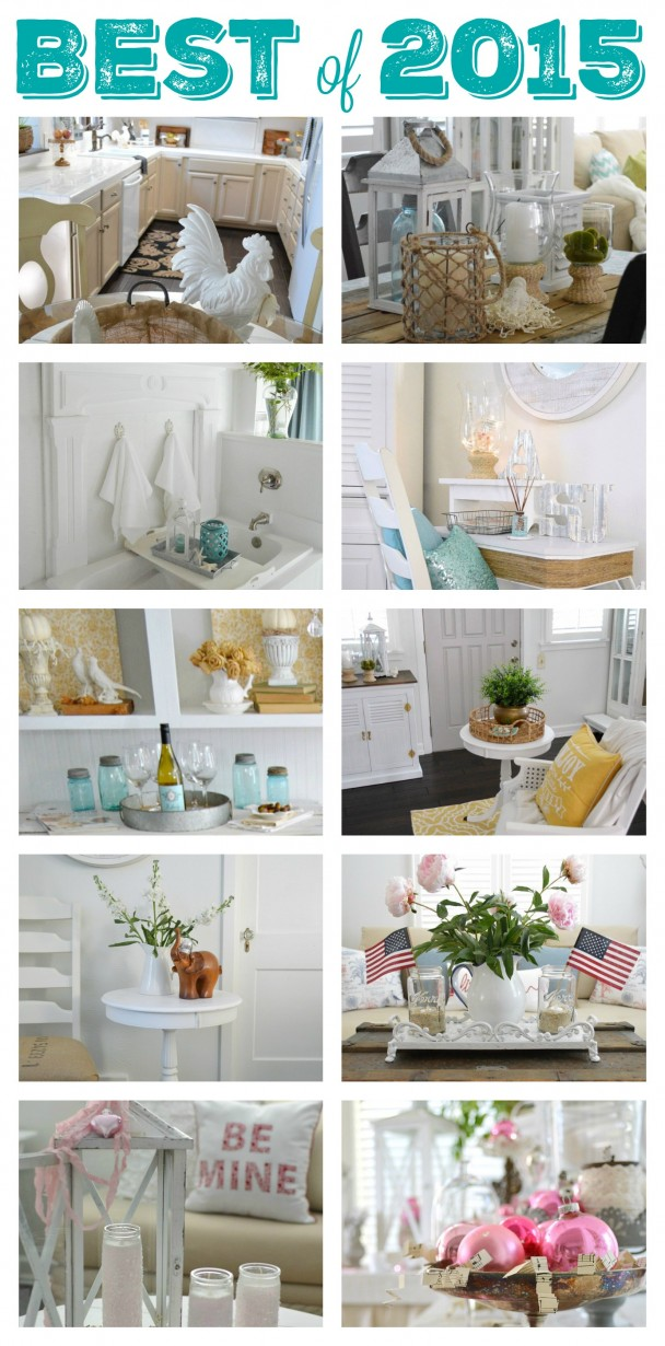 Top 15 Diy Craft And Home Decorating Projects Of 2015 At Fox Hollow Cottage