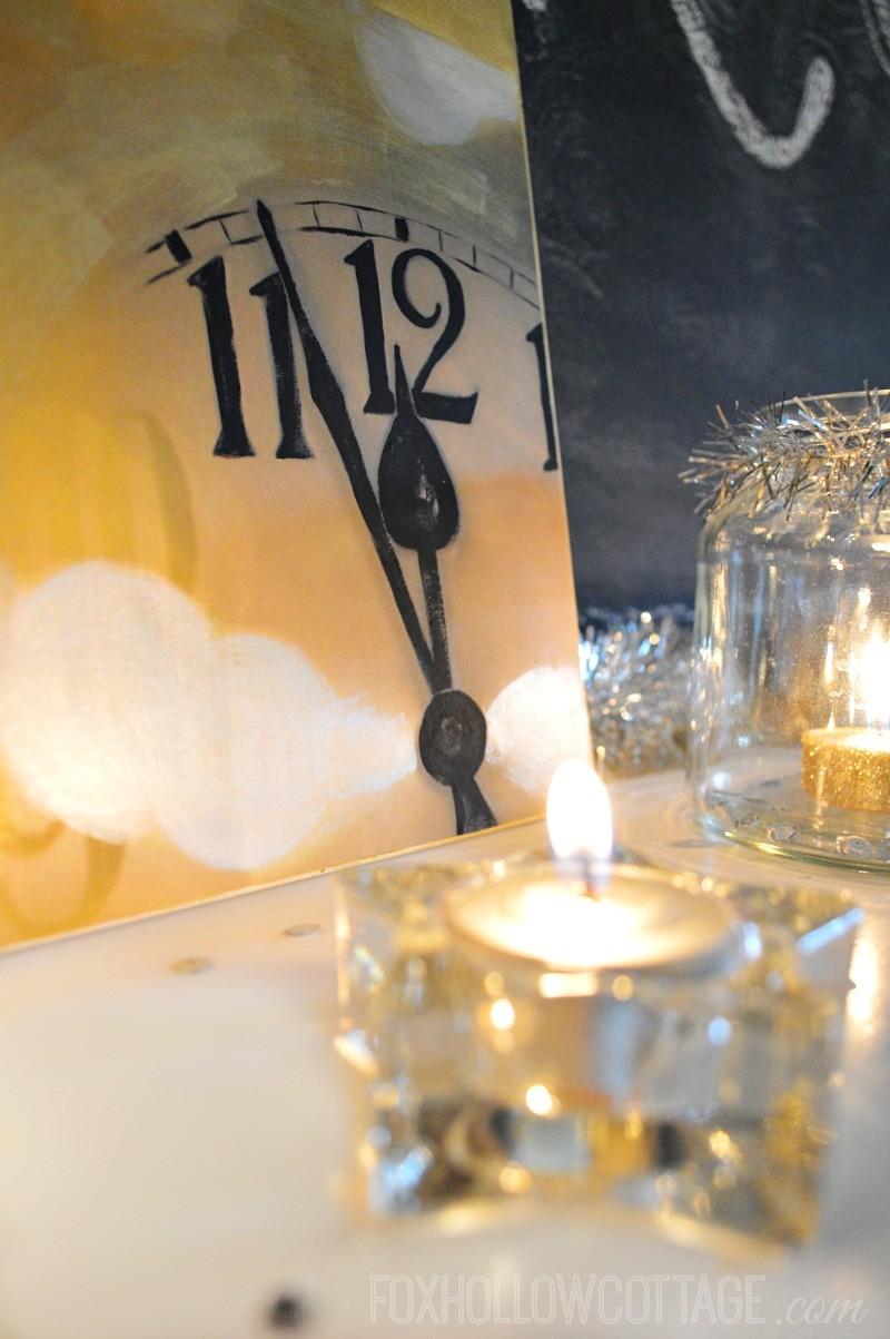 DIY-New-Years-Eve-Art-Mantel-Decoration