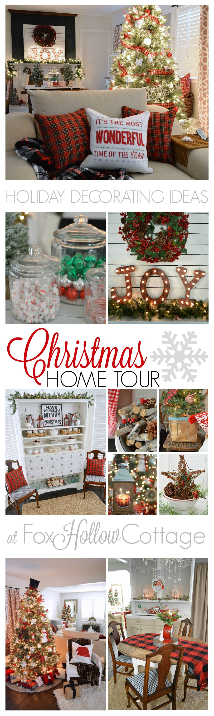 Happy Holiday Decorating Ideas from the Country Living Cherished Christmas Home Tour at Fox Hollow Cottage foxhollowcottage.com