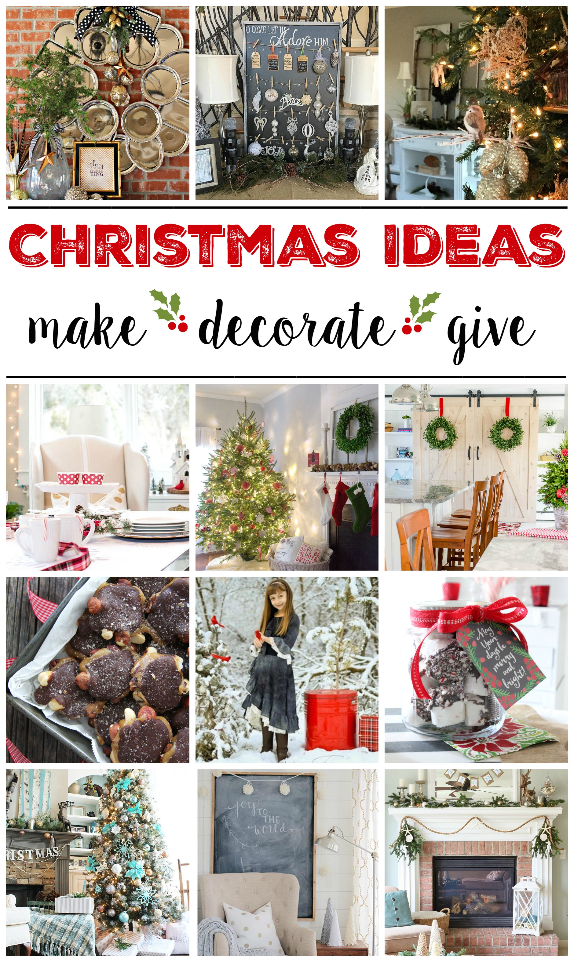 Make, Decorate, Give - Christmas Ideas from #foxhollowfridayfavs on Instagram - foxhollowcottage.com