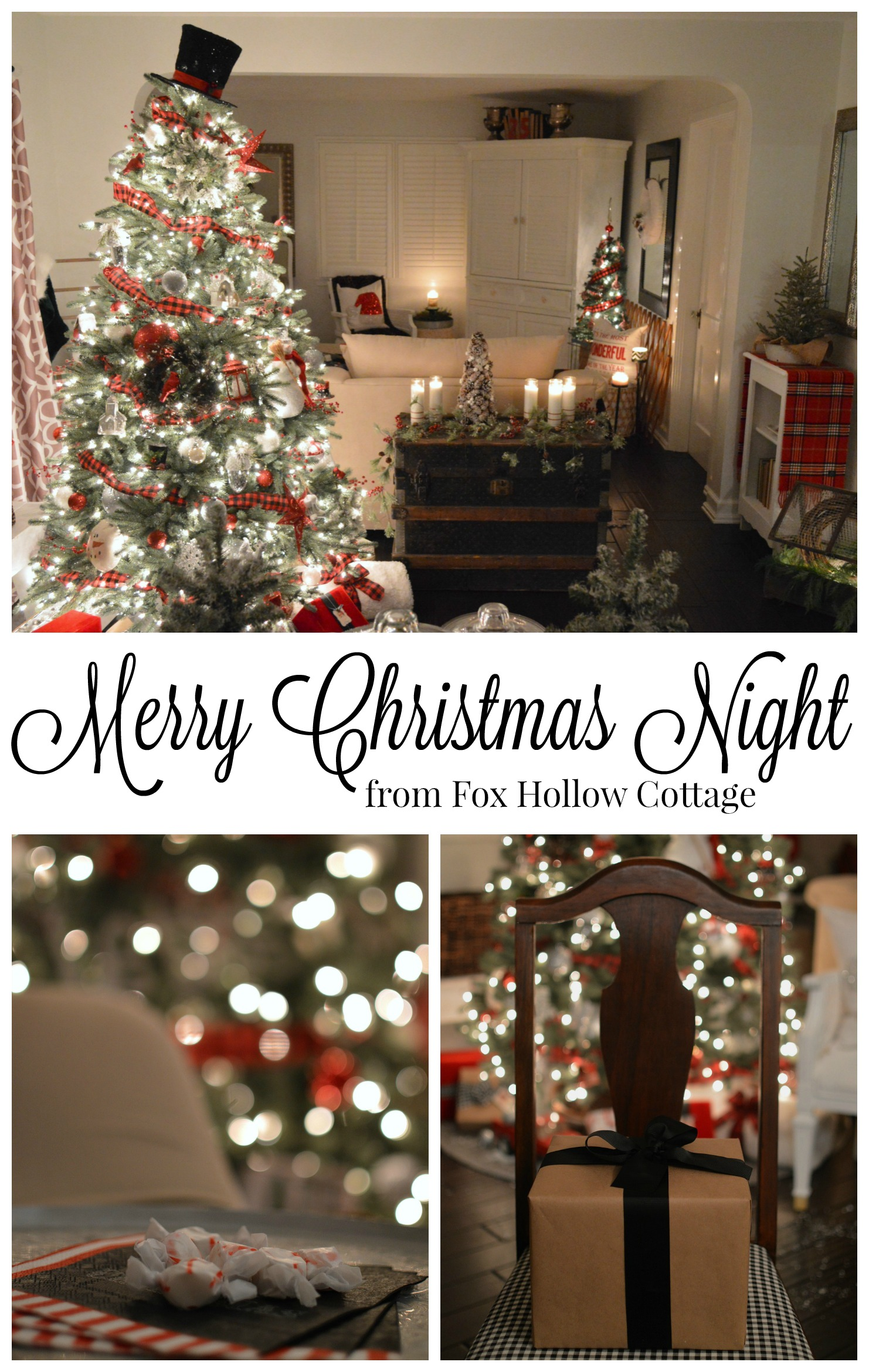 Merry Christmas Night from Fox Hollow Cottage