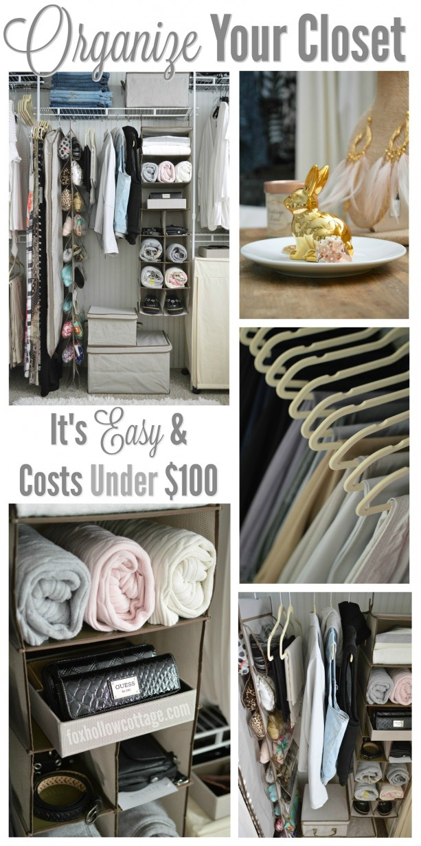 Organize Your Closet for UNDER 100 - it's easy and all the supplies are from....
