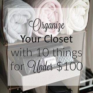 Organize Your Closet with 10 things for under 100 dollars