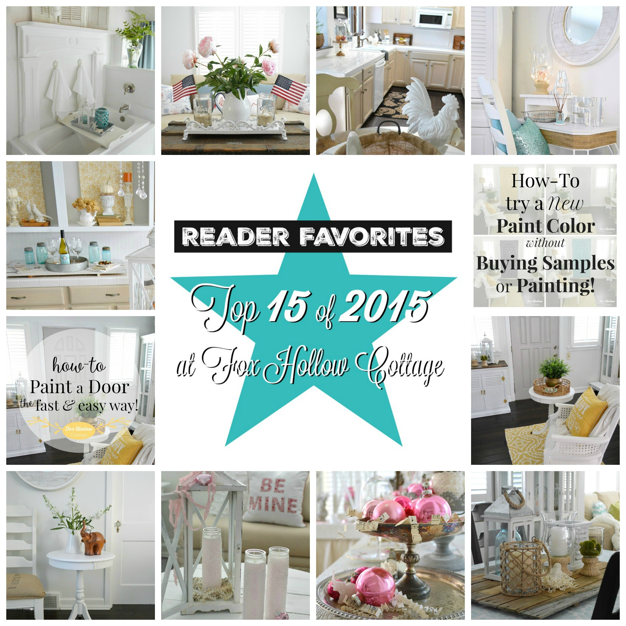 Top 15 diy craft and home decorating projects of 2015 Cottage home decor pinterest