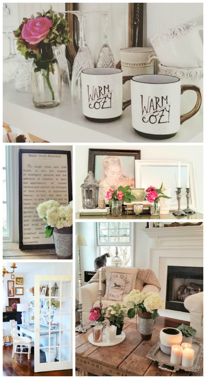 Living and Loving Cottage Style - Cottage Farmhouse Home Tour