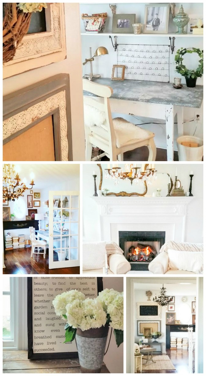 Living and Loving Cottage Style - Cottage Farmhouse Library and Office