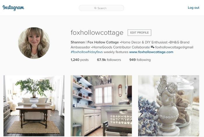 Shannon Fox Hollow Cottage Instagram