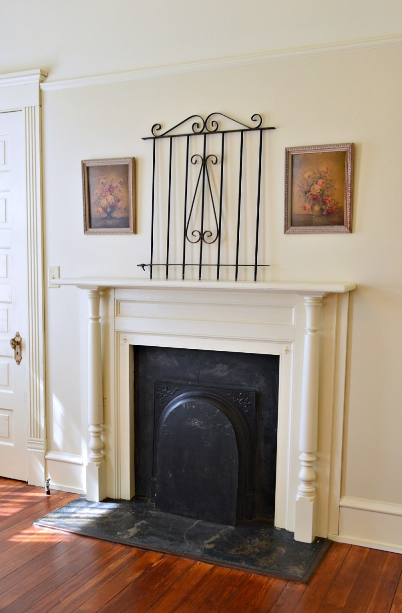 Fireplace, in vintage Southern home - Mobile Alabama - Morgan Ford house - renovated by Phantom Screens