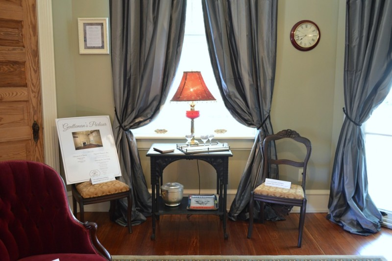 Gentlemens Parlor - Southern Romance Phantom Screens Historic Home - Mobile Alabama