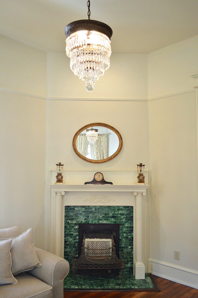 Victorian fireplace and original tile surround