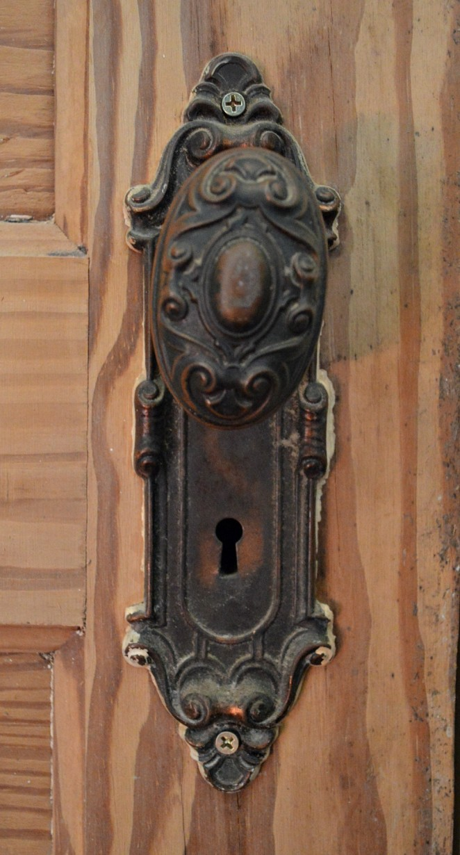 Vintage door hardware - Skeleton key doorknob - Southern Romance project by Phantom Screens