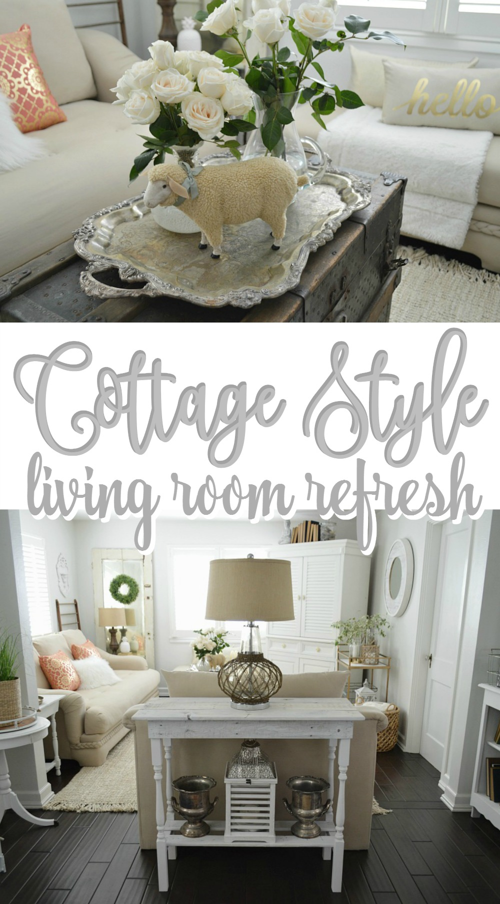Cottage Style Living Room Refresh at foxhollowcottage.com 1000